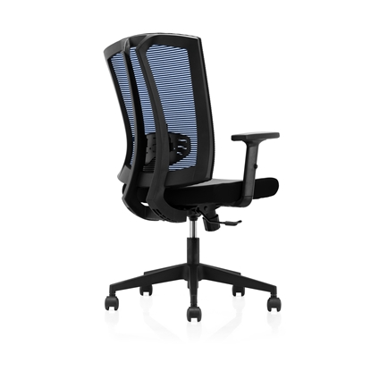 Picture of RFG Brixen  W Office Chair, mesh and upholstery, black seat , blue back