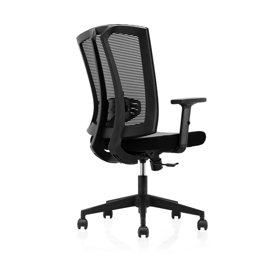 Picture of RFG Brixen  W Office Chair, mesh and upholstery, black seat , black back