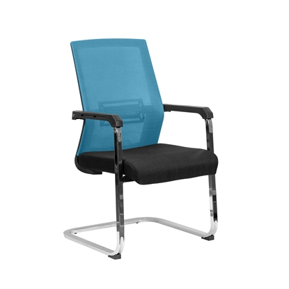 Picture of RFG Roma M Visitor Chair, mesh and upholstery, black seat , light blue back
