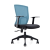 Picture of RFG Siena W Office Chair, mesh and upholstery, black seat, blue back, 2 pcs. in a set