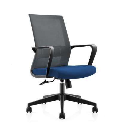 Picture of RFG Smart W Office Chair, mesh and upholstery, blue seat , grey back