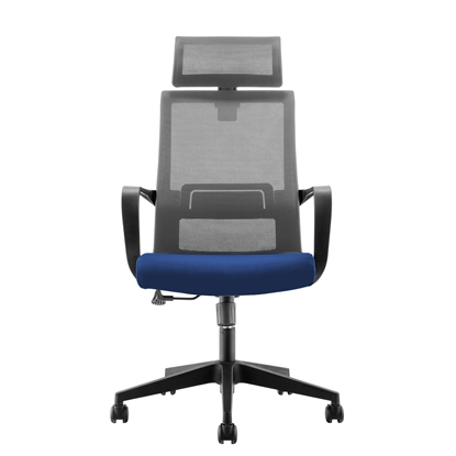 Picture of RFG Smart HB Director s Chair, mesh and upholstery, dark dark blue seat , grey back