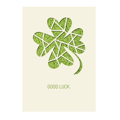 Picture of Gespansterwald Greeting card Deluxe Good luck