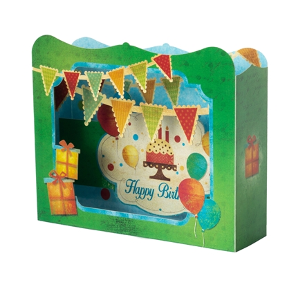 Picture of Gespaensterwald 3D Greeting card, Happy Birthday Party