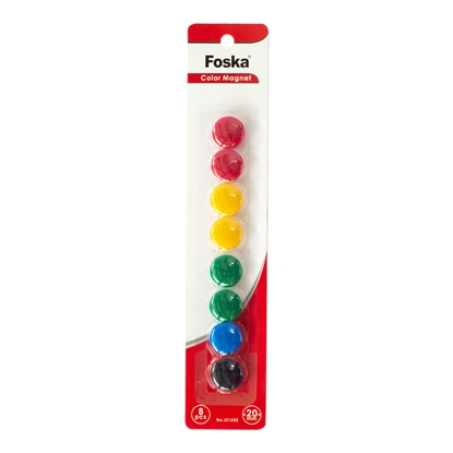 Picture of Foska Whitebaord magnets, 20 mm, colored, 8 pcs