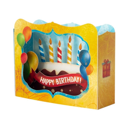 Picture of Gespaensterwald 3D Greeting card, Happy Birthday cake