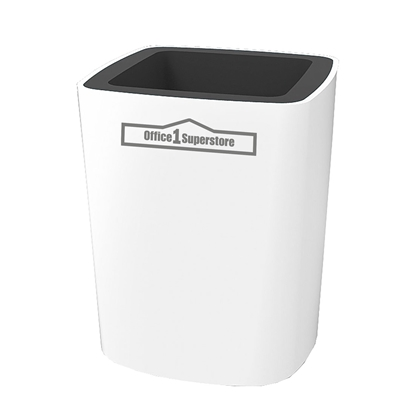 Picture of Оffice 1 Superstore Pen holder Elegant, plastic, white-grey