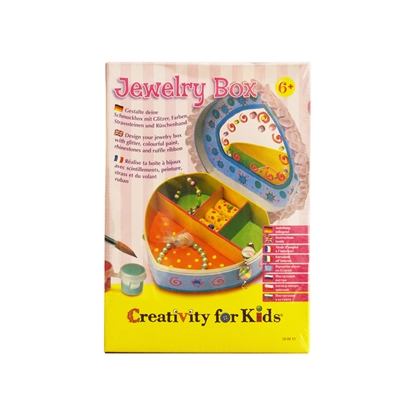 Picture of Faber-Castell set Creativity for Kids, box for jewellry heart
