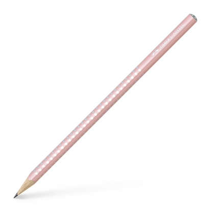 Picture of Faber-Castell Pencil Sparkle, black-graphited, pearl light pink