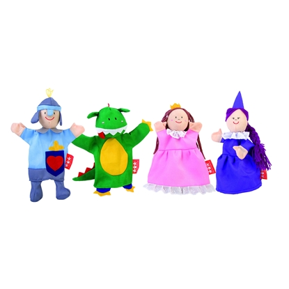 Picture of  Hand puppets, fairy tale, 25 cm, 4 pcs.