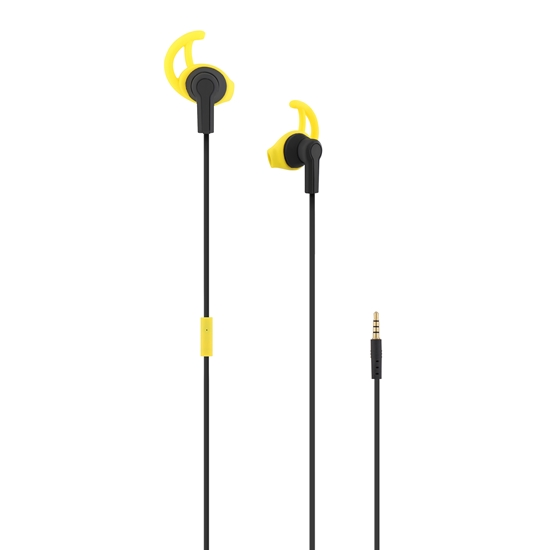 Picture of TNB headphones Sport Running, with stoppers, yellow
