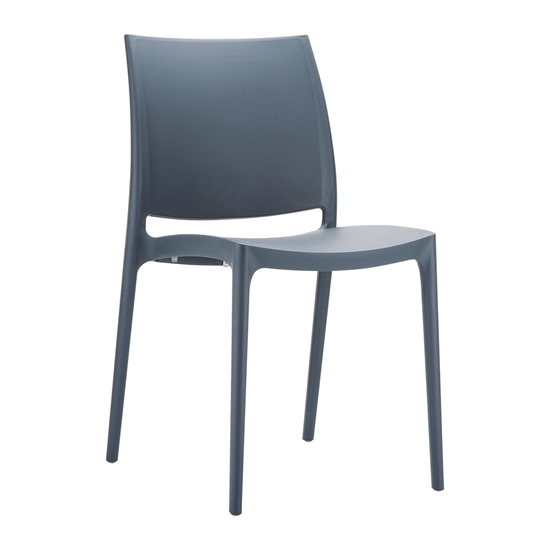 Picture of RFG Milano Chair, plastic, dark grey