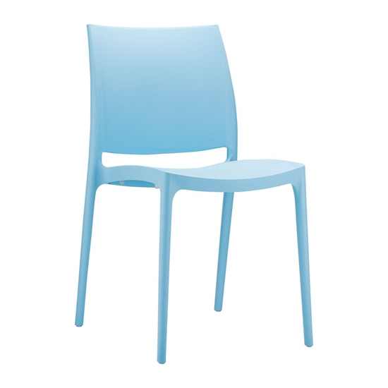 Picture of RFG chair Milano, plastic, lightblue