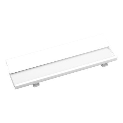 Picture of Cool Name badge Bindel, aluminium, with safety pin, 70 x 25 x 4 mm, white