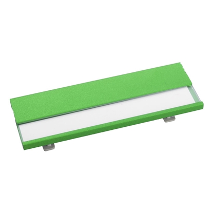 Picture of Cool Name badge Bindel, aluminium, with safety pin, 70 x 25 x 4 mm, green