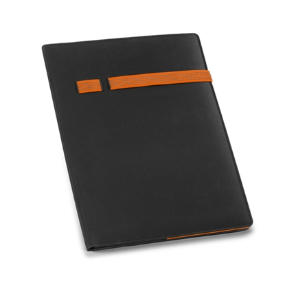 Picture of Hi!dea conference folder Torga, A4, black, with orange tape