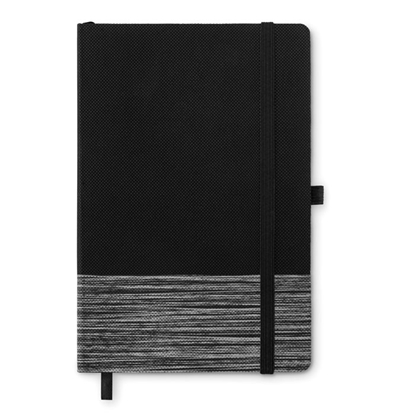 Picture of More Than Gifts book Congo, A5, with elastic, textile, black-grey