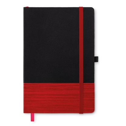 Picture of More Than Gifts book Congo, A5, with elastic, textile, black-red