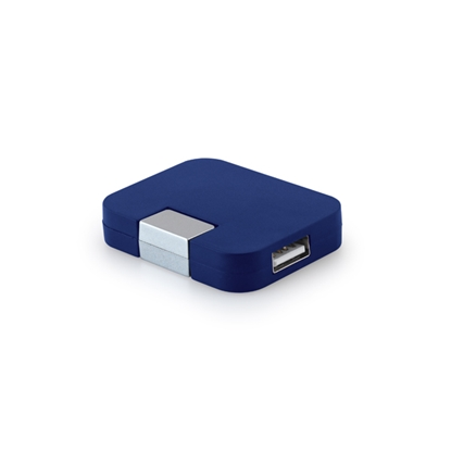 Picture of Hi!dea USB hub, with 4 ports, blue