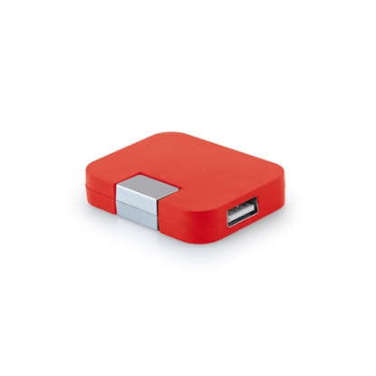 Picture of Hi!dea USB hub, with 4 ports, red