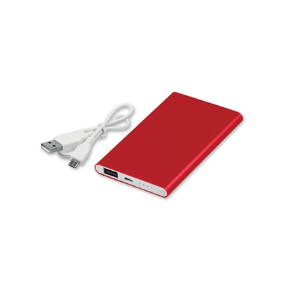 Picture of Mobile battery Draco, 4000 mAh, red