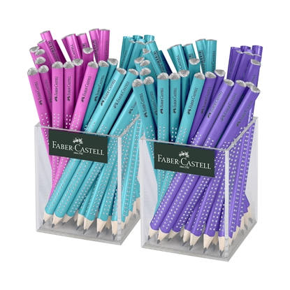 Picture of Faber-Castell jumbo Pencils Sparkle, mix, 72 pcs. in 2 glasses