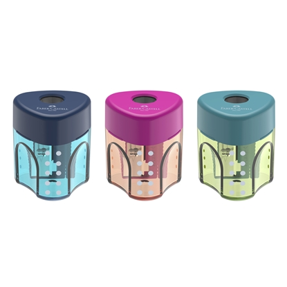 Picture of Faber-Castell Sharpener Trend Auto, single hole, mixed colors