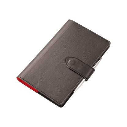 Picture of Gipta book Suma, leather, with magnetic hasp, 13 x 21 cm, black