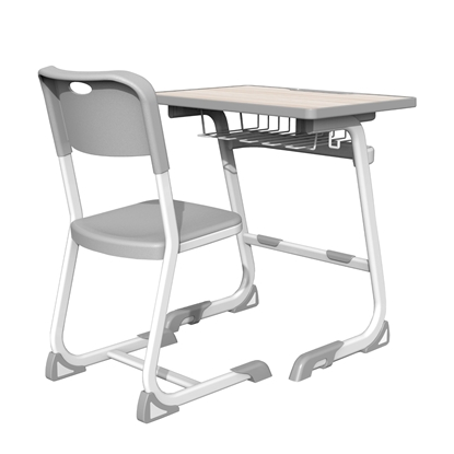 Picture of RFG Istudy White Ergonomic rank and table, 1st - 8th grade