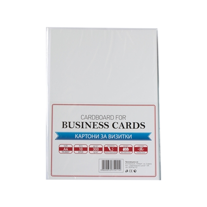 Picture of Top Office Cardboard for business cards, A4, 300 g/m?, matte, white, 10 sheets
