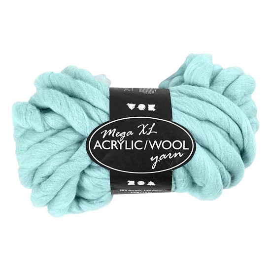 Picture of Yarn, acrylic / wool, 15 m, 300 g, turquoise