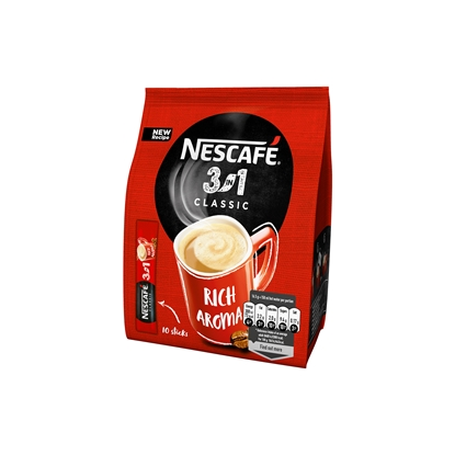 Picture of Nescafe soluble Coffee 3in1, 16.5 g, in a package, 10 pcs