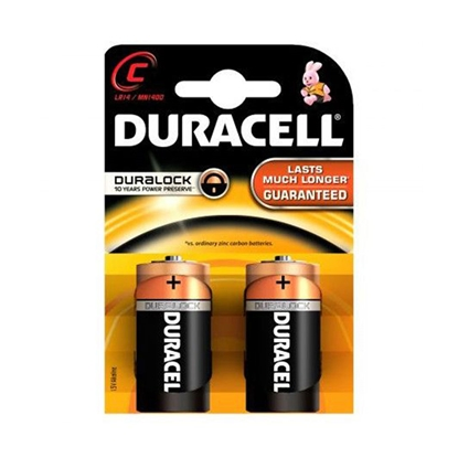 Picture of Duracell alkaline battery, C, LR14, 1.5 V, 2 pcs