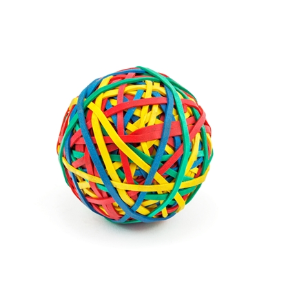 Picture of Top Office Rubber Band Ball, 105 g, coloured