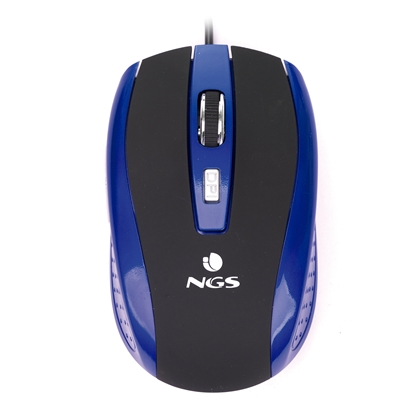 Picture of NGS mouse Tick, with cable, 6 buttons, blue