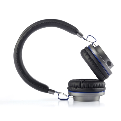 Picture of NGS headphones Artica Patrol, with Bluetooth/cable, black and blue