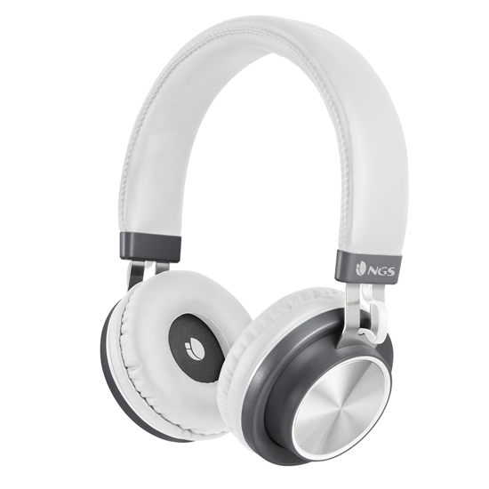 Picture of NGS headphones Artica Patrol, with Bluetooth/cable, white