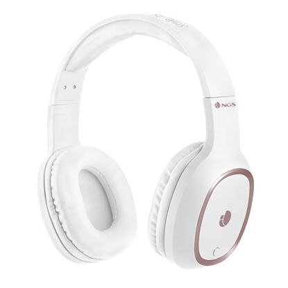 Picture of NGS headphones, Artica Pride, with Bluetooth, white