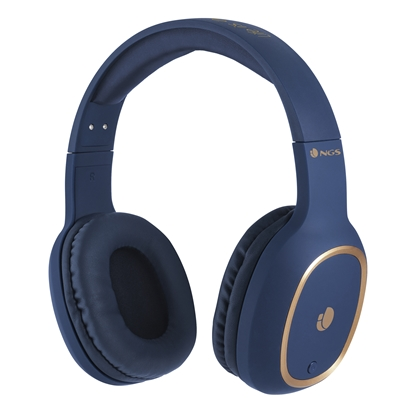 Picture of NGS headphones, Artica Pride, with Bluetooth, blue