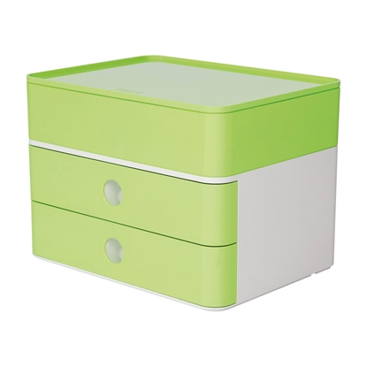 Picture of HAN Smart-Box Plus Allison, with 2 drawers and organiser, light green