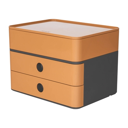 Picture of HAN Smart-Box Plus Allison, with 2 drawers and organiser, brown