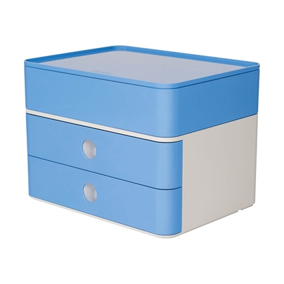 Picture of HAN Smart-Box Plus Allison, with 2 drawers and organiser, light blue