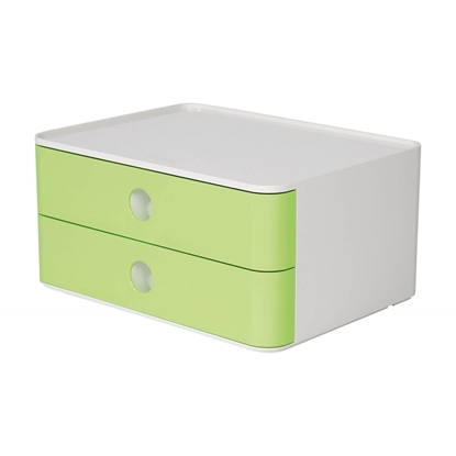 Picture of HAN Smart-Box Plus Allison, with 2 drawers, light green