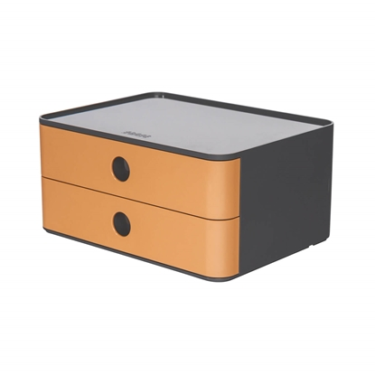 Picture of HAN Smart-Box Plus Allison, with 2 drawers, brown