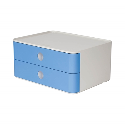 Picture of HAN Smart-Box Plus Allison, with 2 drawers, light blue