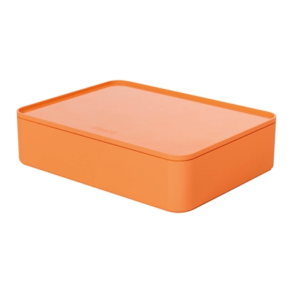 Picture of HAN Smart-Box Allison Smart-Organizer, with lid, dark, orange