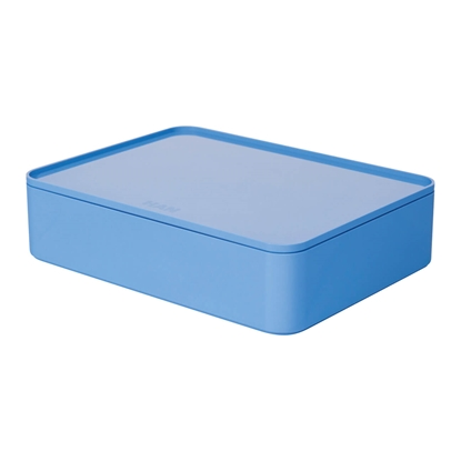 Picture of HAN Smart-Box Allison Smart-Organizer, with lid, dark, light blue