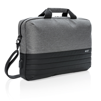 Picture of Swiss Peak bag for laptop, with RFID protection, 15 , grey/black