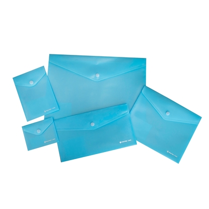 Picture of Panta Plast folders Focus, with button, 5 sizes, lightblue