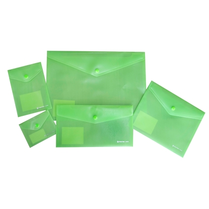 Picture of Panta Plast folders Focus, with button, 5 sizes, lightgreen